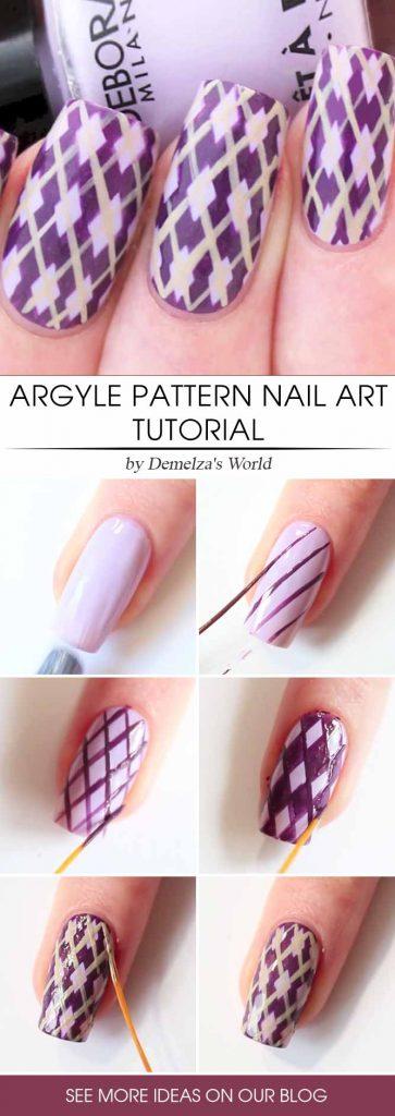 Argyle Purple Wonder Step By Step