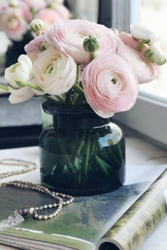 Fragile And Beautiful Flowers Of Ranunculus