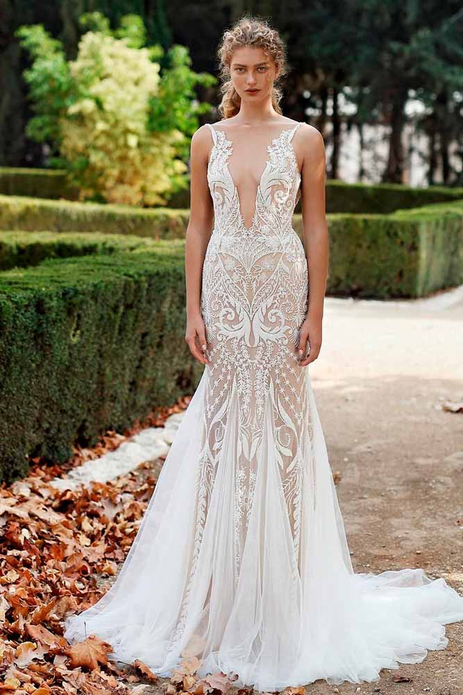 Wedding Gown With A Bare-Skin Effect #weddingdress #bohodress