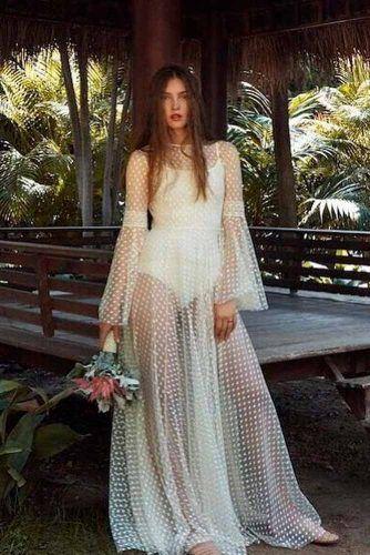 Transparent Beach WEdding Dress #beachweddingdress #simpleweddingdress