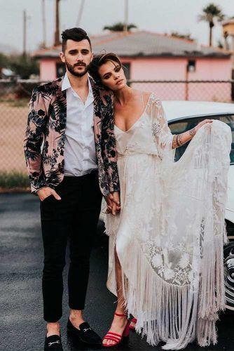 Stylish Wedding Dress Like As Fringe Robe #weddingdress #bohodress