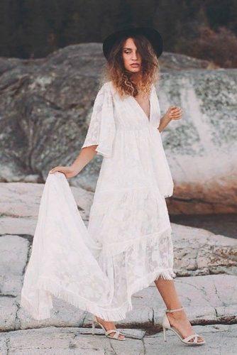Multilayered Wedding Dress With Fringe #simpleweddingdress