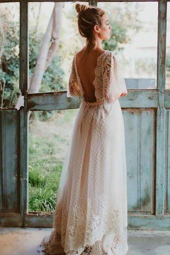 Bohemian Backless Wedding Dress