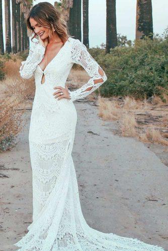 Fab Long Sleeve Wedding Dress