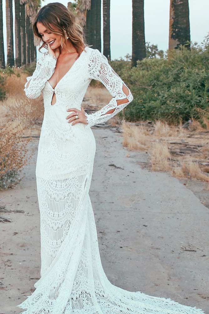 Fab Long Sleeve Wedding Dress