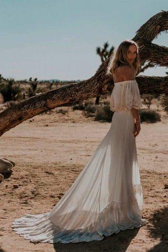 Elegant Styled Shoulder Off Wedding Dress #weddingdress #bohowedding