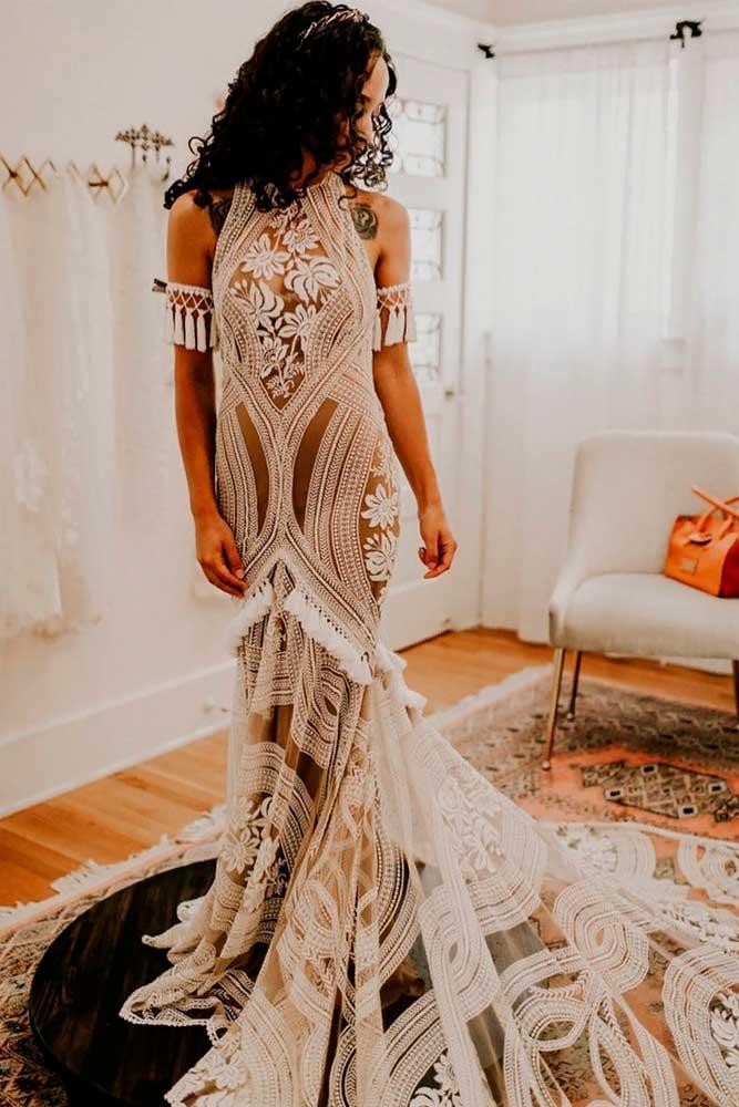 Wild East Motifs For Bridal Look #weddingdress #bohowedding