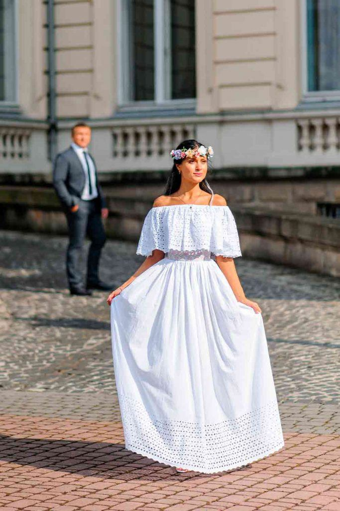 Wedding Dress With Perforation #perforationdress #weddingdress