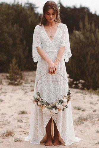 Gentle Guipure Wedding Dress #guipureweddingdress