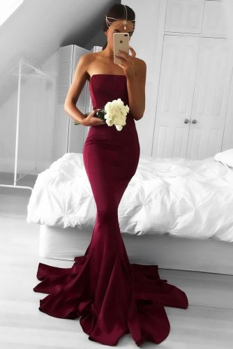 Burgundy Dresses Designs picture 3