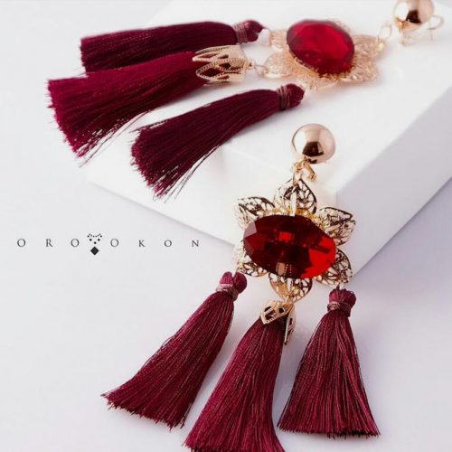 Burgundy Earrings Design #earringsdesign