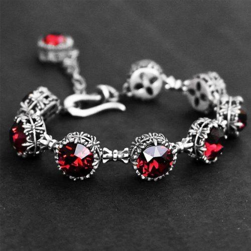 Burgundy Bracelet Design #bracelet #jewelry
