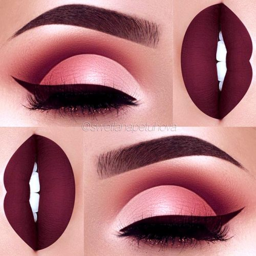 Amazing Burgundy Makeup Ideas picture 1