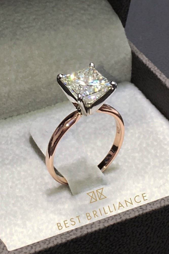 Vintage Diamond Ring #rosegoldring #princesscut