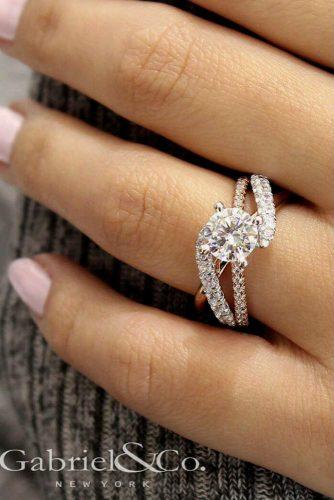 Split Shank Engagement Ring #diamonds #rosegoldring