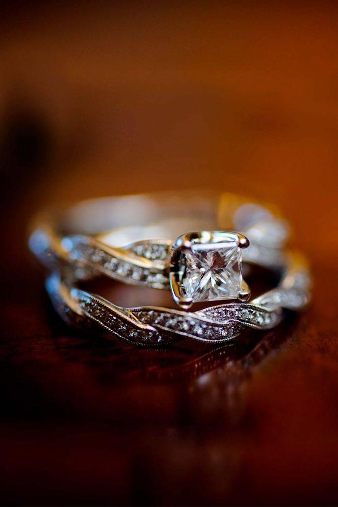 Diamond Engagement Ring Sets #ringset #diamondring