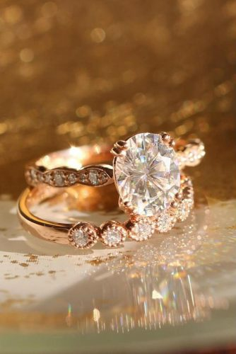 Rose Gold Set For Real Lady #rosegoldring #ocalcut #diamonds