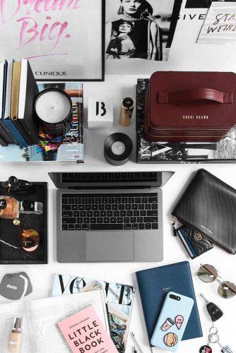 Desk Organization Photography #organization