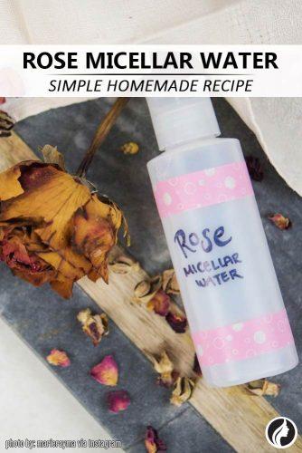 Homemade Rose Micellar Water Recipe #recipe #rosemicellarwater