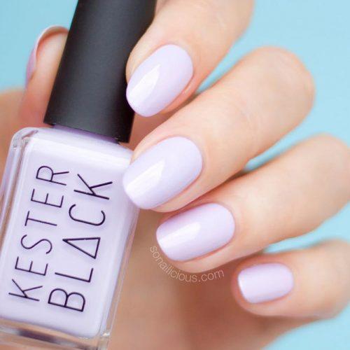 Pastel Purple Short Oval Design #pastel