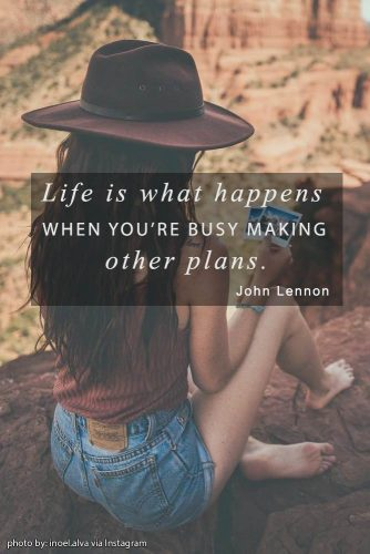 Life is what happens when you're busy making other plans. John Lennon #lifequotes #inspirationalquotes #quotesaboutlife