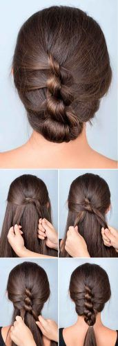 French Knotted Braided Updo #hairtutorial