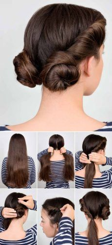 Low Space Buns #hairtutorial