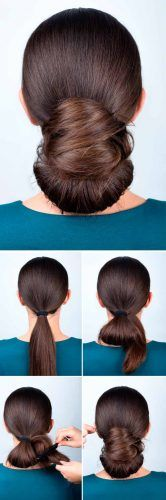 Low Knot Updo Tutorial #hairtutorial