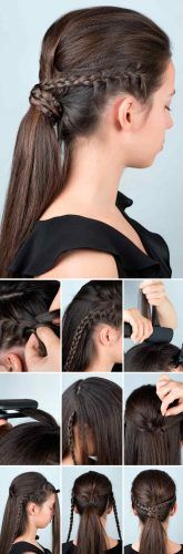 Double Dutch Braids Ponytail #hairtutorial