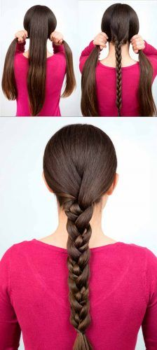Easy Braid Tutorial #hairtutorial