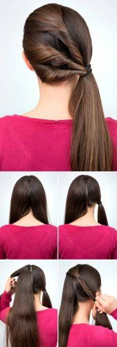 Twisted Side Ponytail Tutorial #hairtutorial