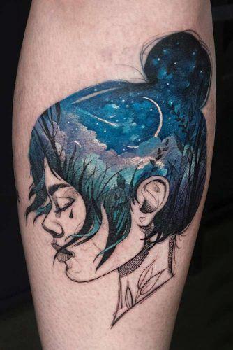 Watercolor Arm Tattoo Idea #watercolorlandscape