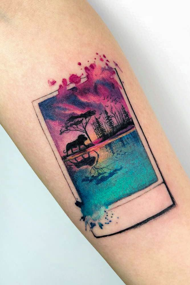 Watercolor Tattoo Design For Arm #armtattoo #brighttattoo