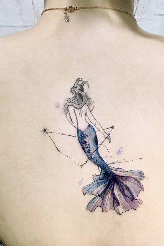 Mermaid Watercolor Tattoo Design #mermaid #galaxy