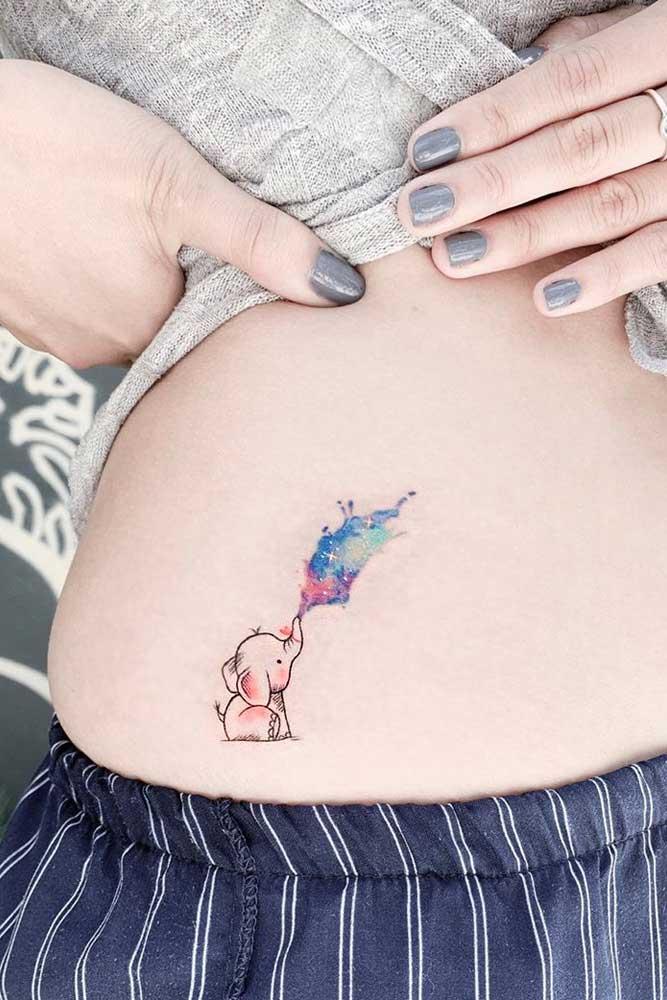 Small Elephant Tattoo Idea #elephanttattoo