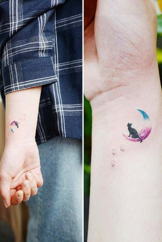 Small Watercolor Tattoo For Wrist #wristtattoo