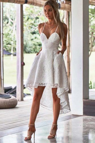Asymmetric Graduation Dress #laceassymetricdress