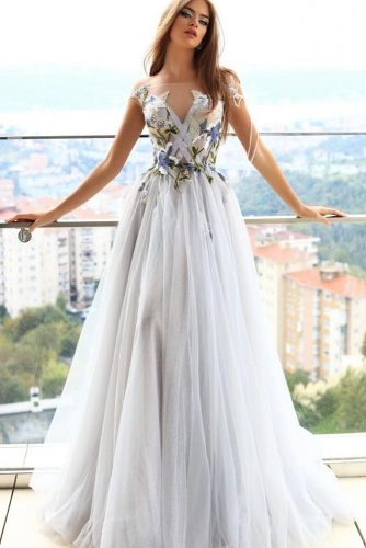 Long White Floral Dress #longdress