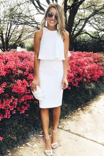 Classic White Graduation Dress With Ruffles #ruffles