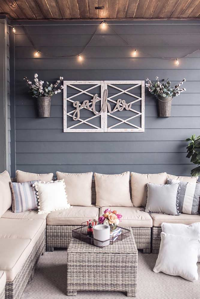 Cozy Outdoor Décor Idea #cozy