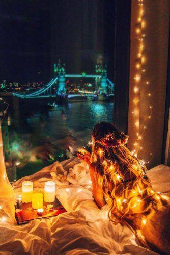 Fairy String Lights Photography Idea #stringlightsphoto