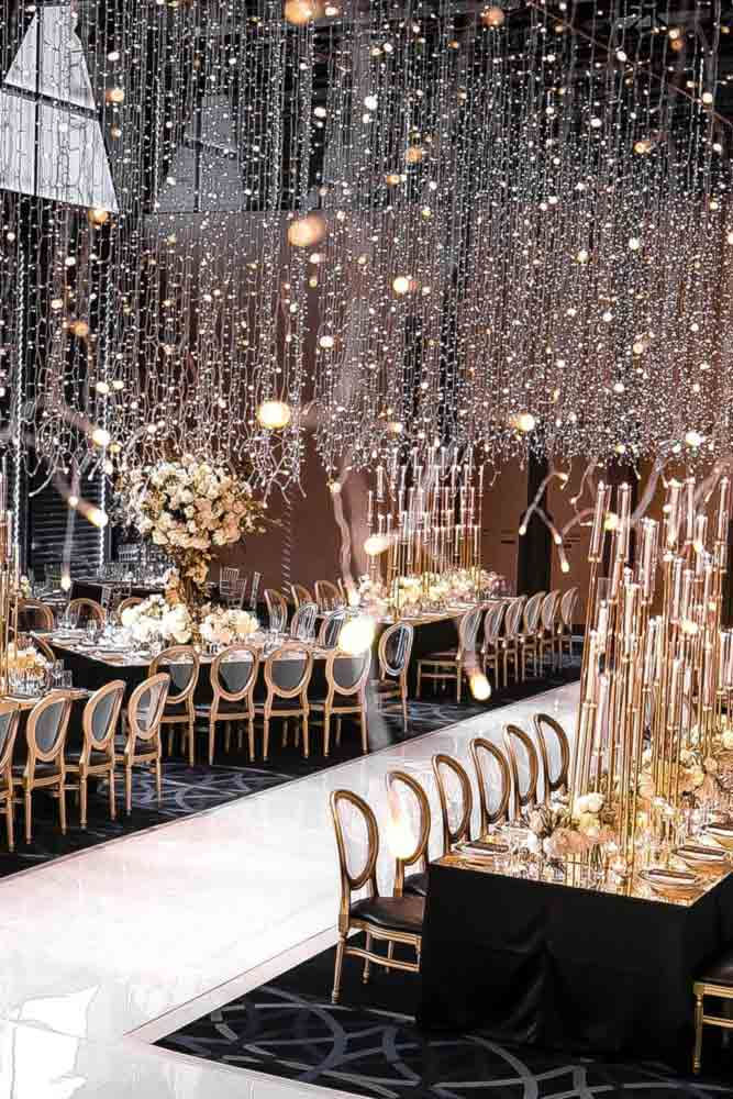 Amazing Wedding Styling With String Lights #wedding