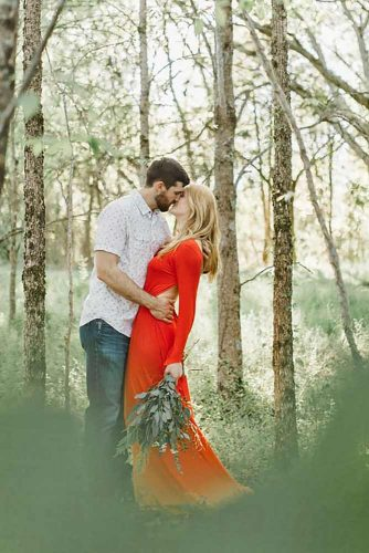 Nature Is Beautiful #engagementphoto#forest #nature #reddress