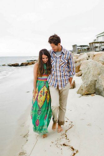 Love At The Beach #engagementphoto #couple #beach