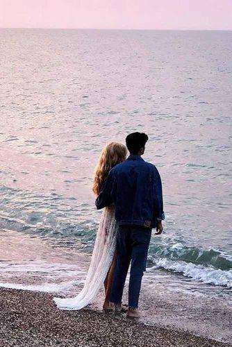 One-Sided Views #engagementphohto #sea #couple #sunset