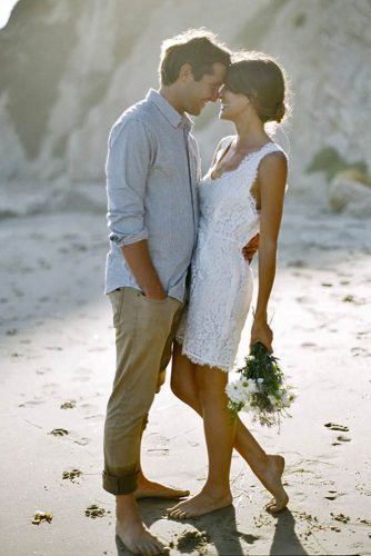 Reflective Engagement Picture Ideas #engagementphoto #love #beach