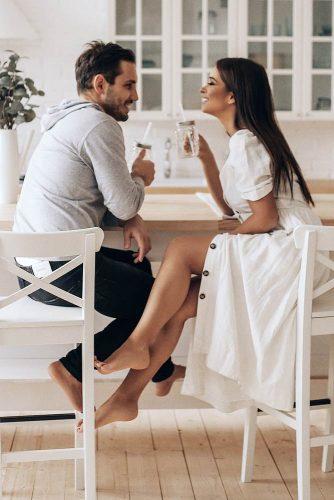 Eyes To Eyes #engagementphoto #love #dinner