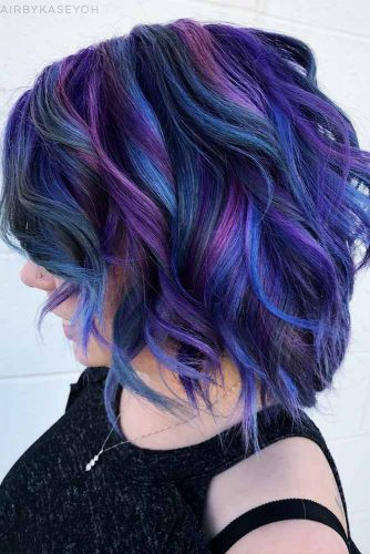 Blue And Purple Hair Looks That Will Amaze You #bobhaircut #wavybob #bobhairstyle