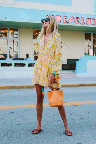 Yellow Summer Boho Style Dress @summerdress #yellowdress #bohostyle
