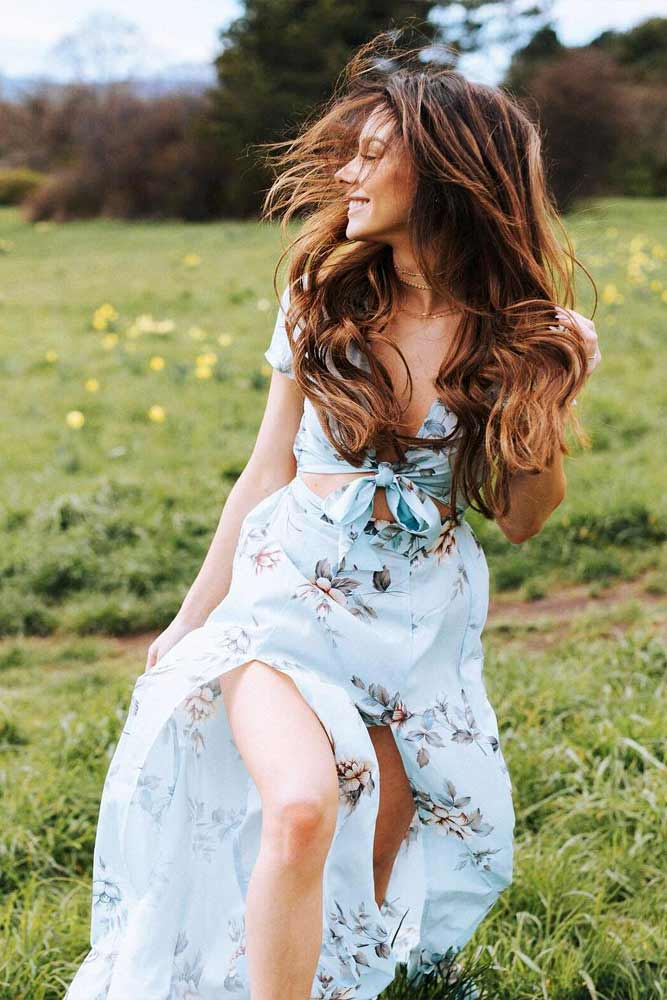 Long Pastel Blue Boho Dress #bohodress #longdress